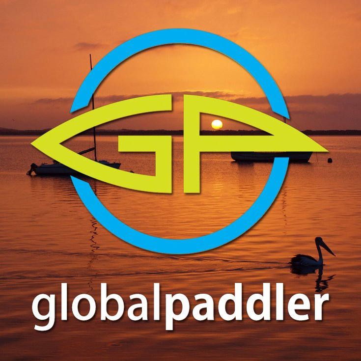 Global Paddler Logo Portrait with Background