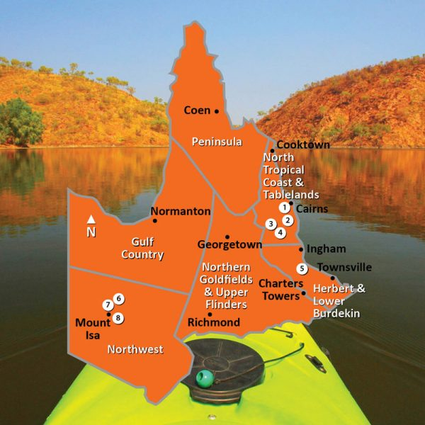 Map of Northern Regions of Queensland Square Image