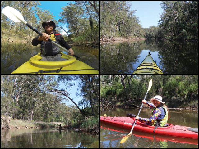 Kayakers on Coonemia Creek in Jervis Bay National Park