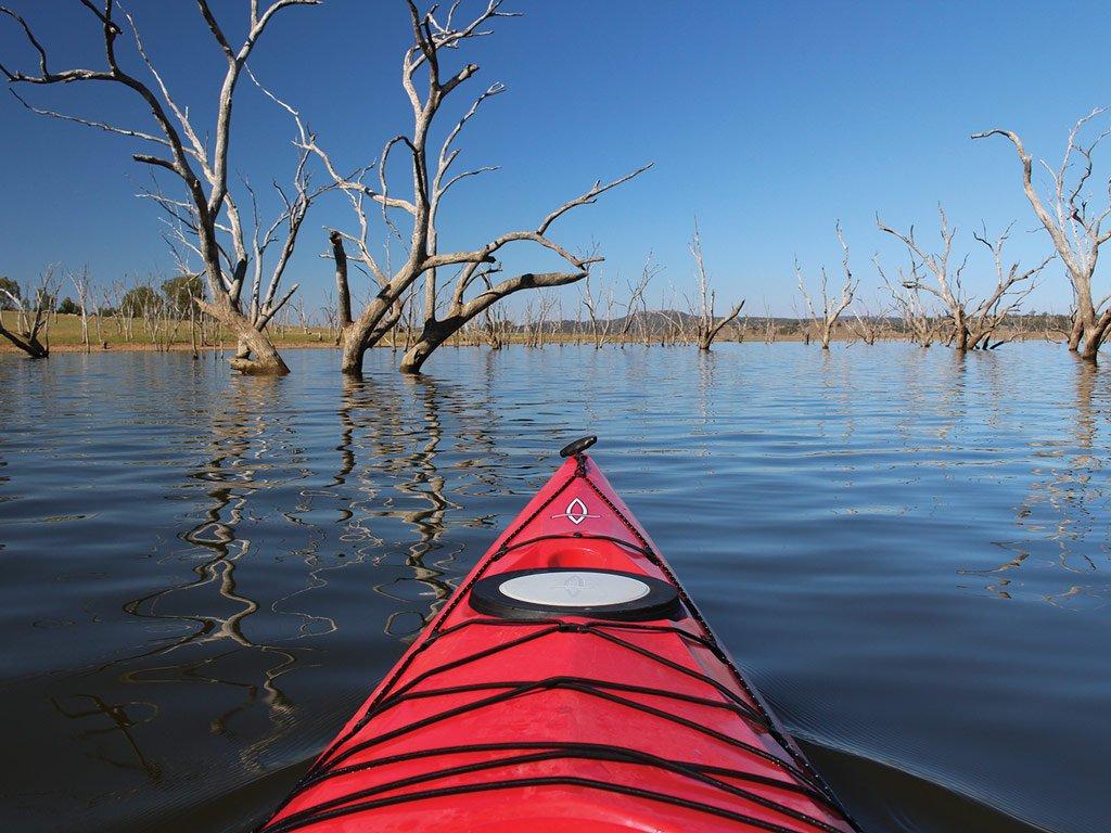 Kayak on Lake Keepit