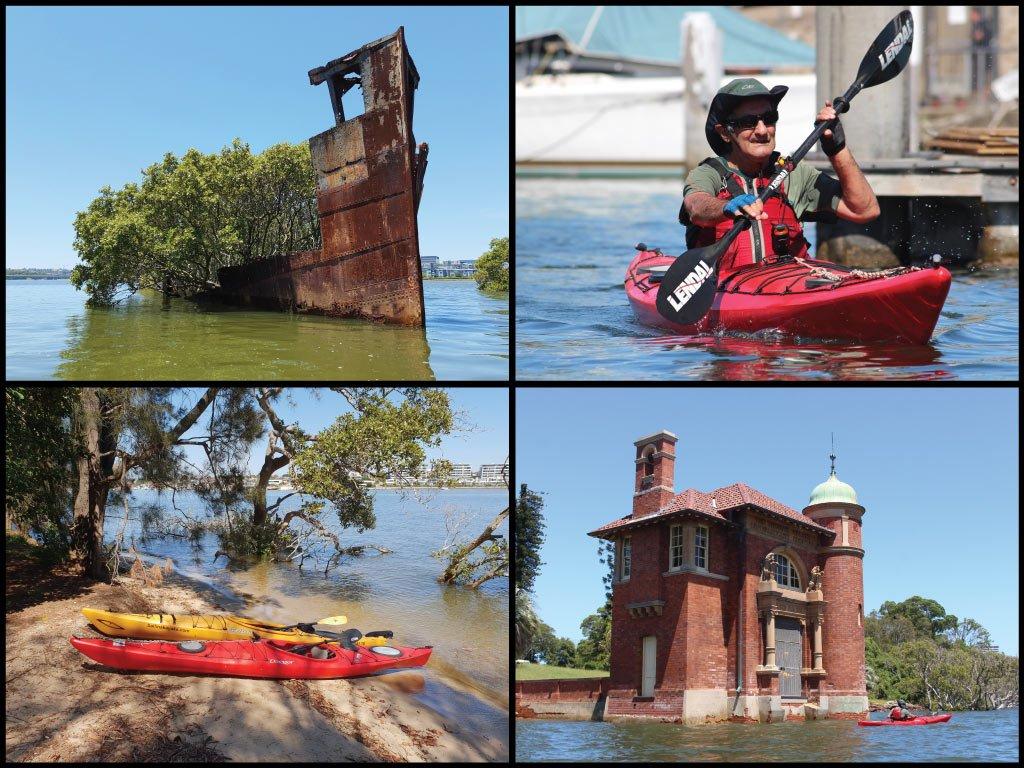Kayakers, shipwrecks, and Rivendell School at Parramatta River