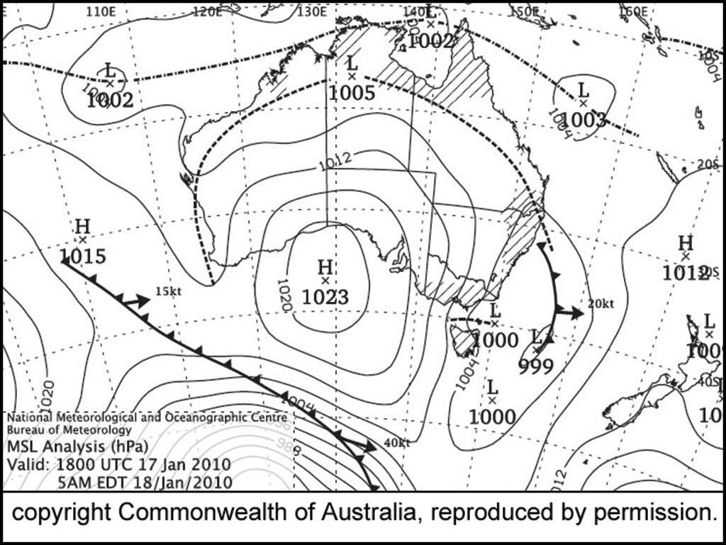 Synoptic chart for Australia