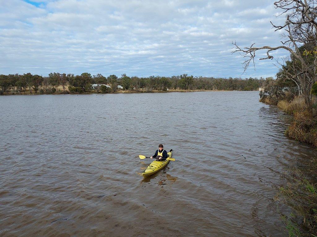 Kayaker on Lake Inverell